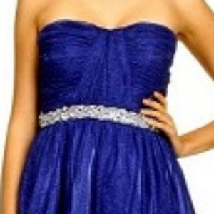 Gabriella Rocha Blue Shimmer Graduation Short Gown